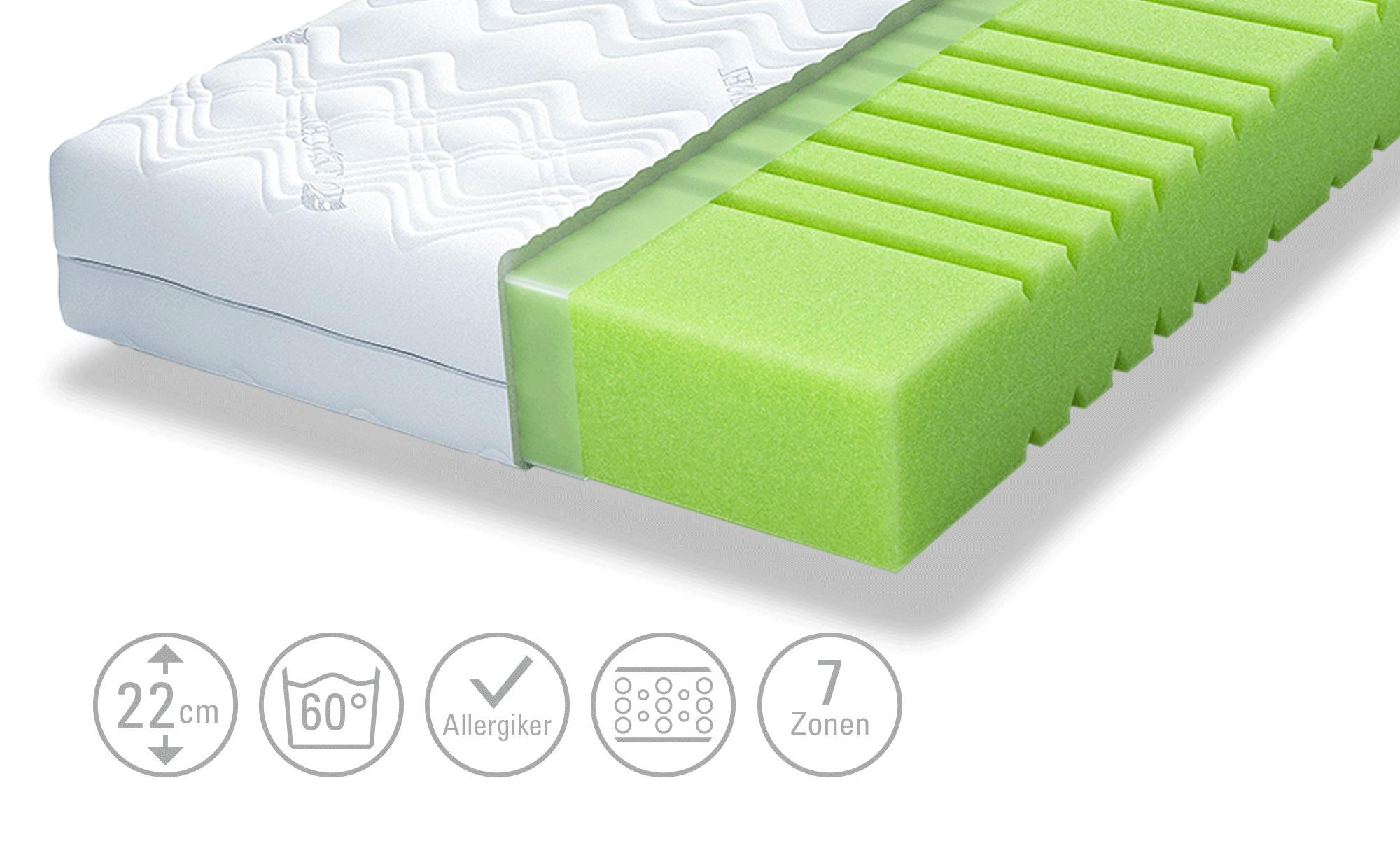 SCHLARAFFIA Bultex-Kaltschaum-Matratze  Bora Pure 55 - weiß - Matratzen & L günstig online kaufen