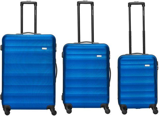 Packenger Trolleyset »Timber, Blau«, 4 Rollen, (3 tlg) günstig online kaufen