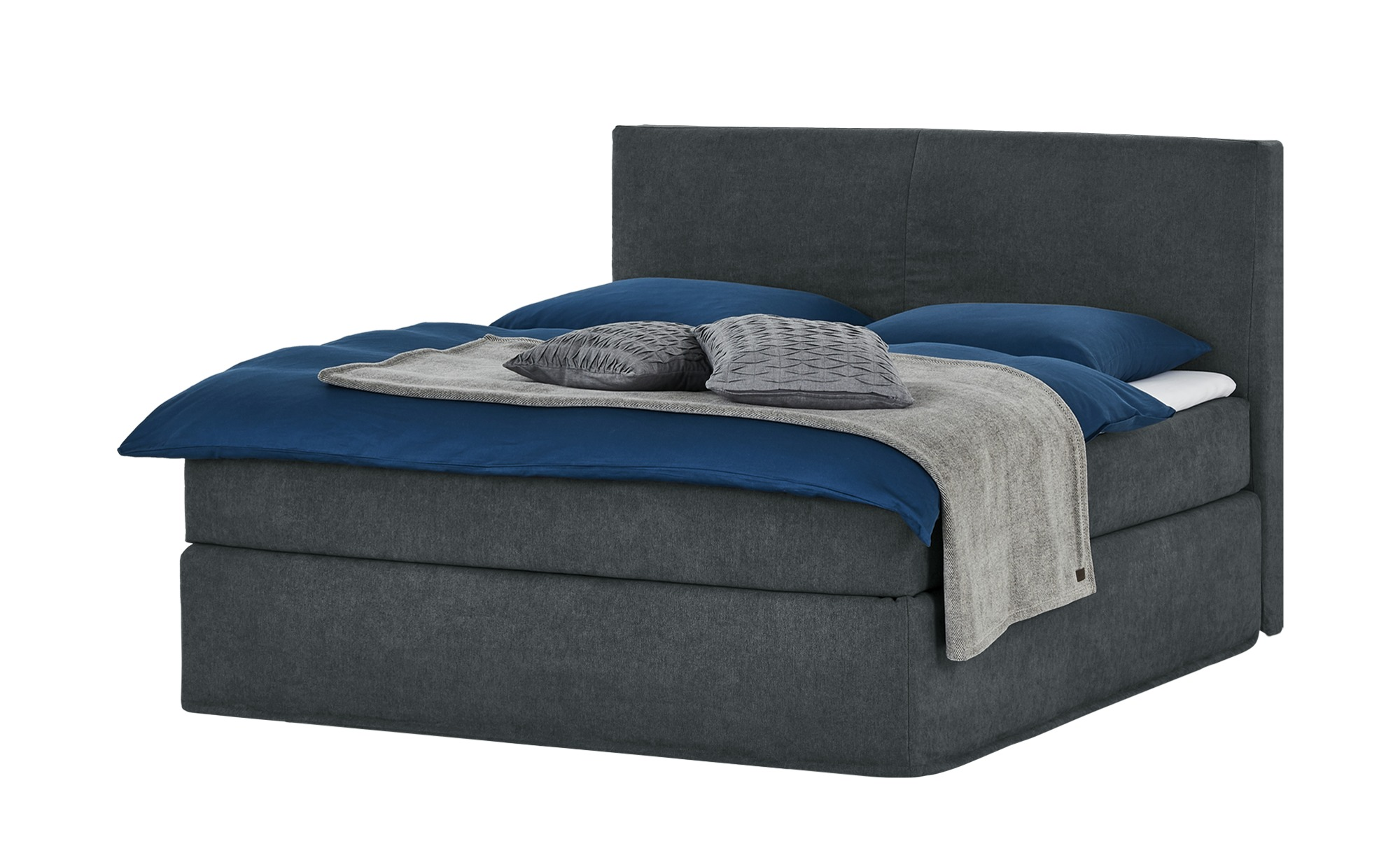 Boxspringbett 180 x 200 cm - grau - Betten > Boxspringbetten > Boxspringbet günstig online kaufen
