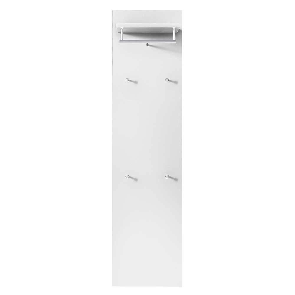 Wandgarderobenleiste in Weiß 40 cm breit günstig online kaufen