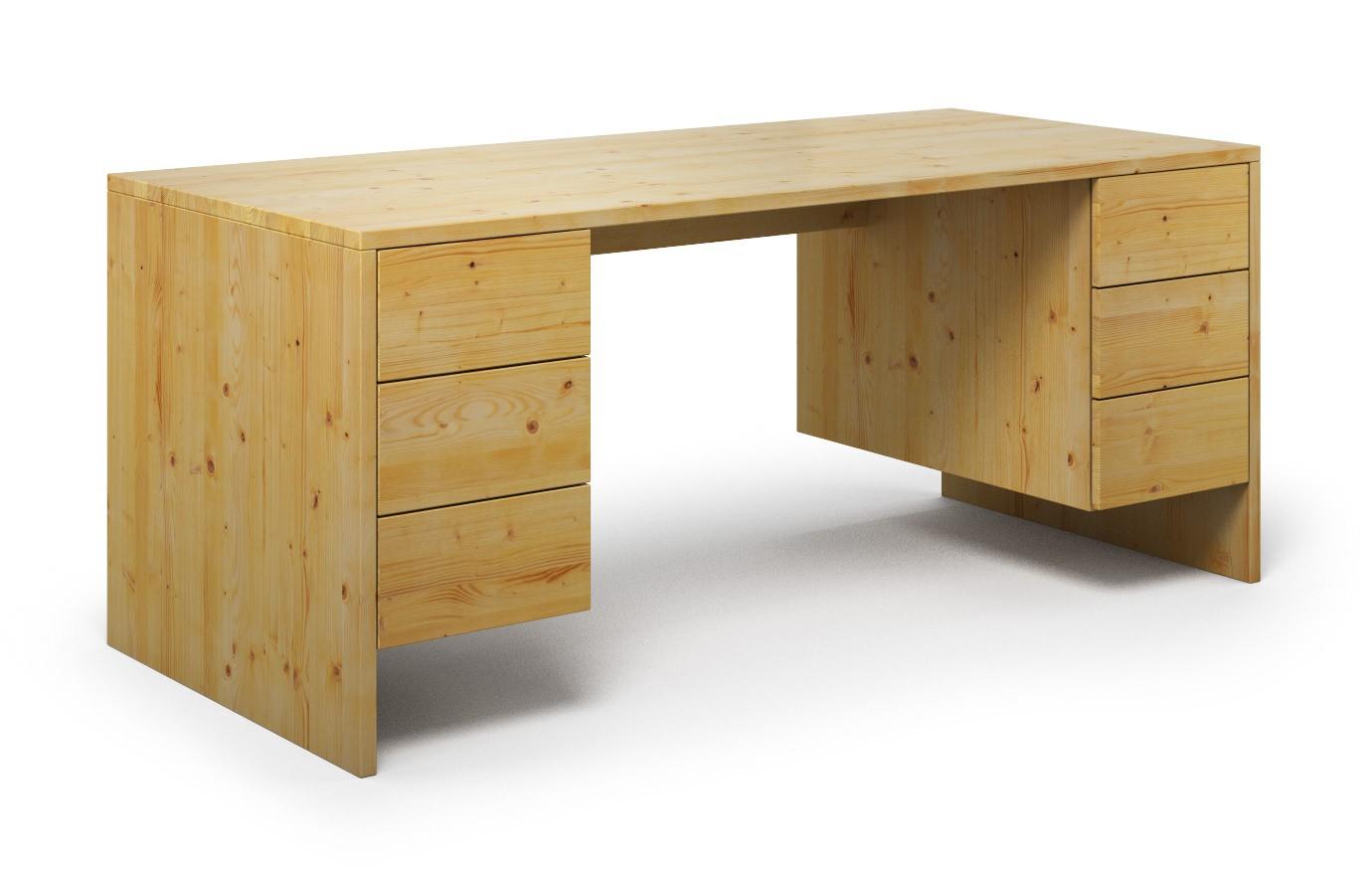 Schreibtisch Mandato aus Kiefer günstig online kaufen