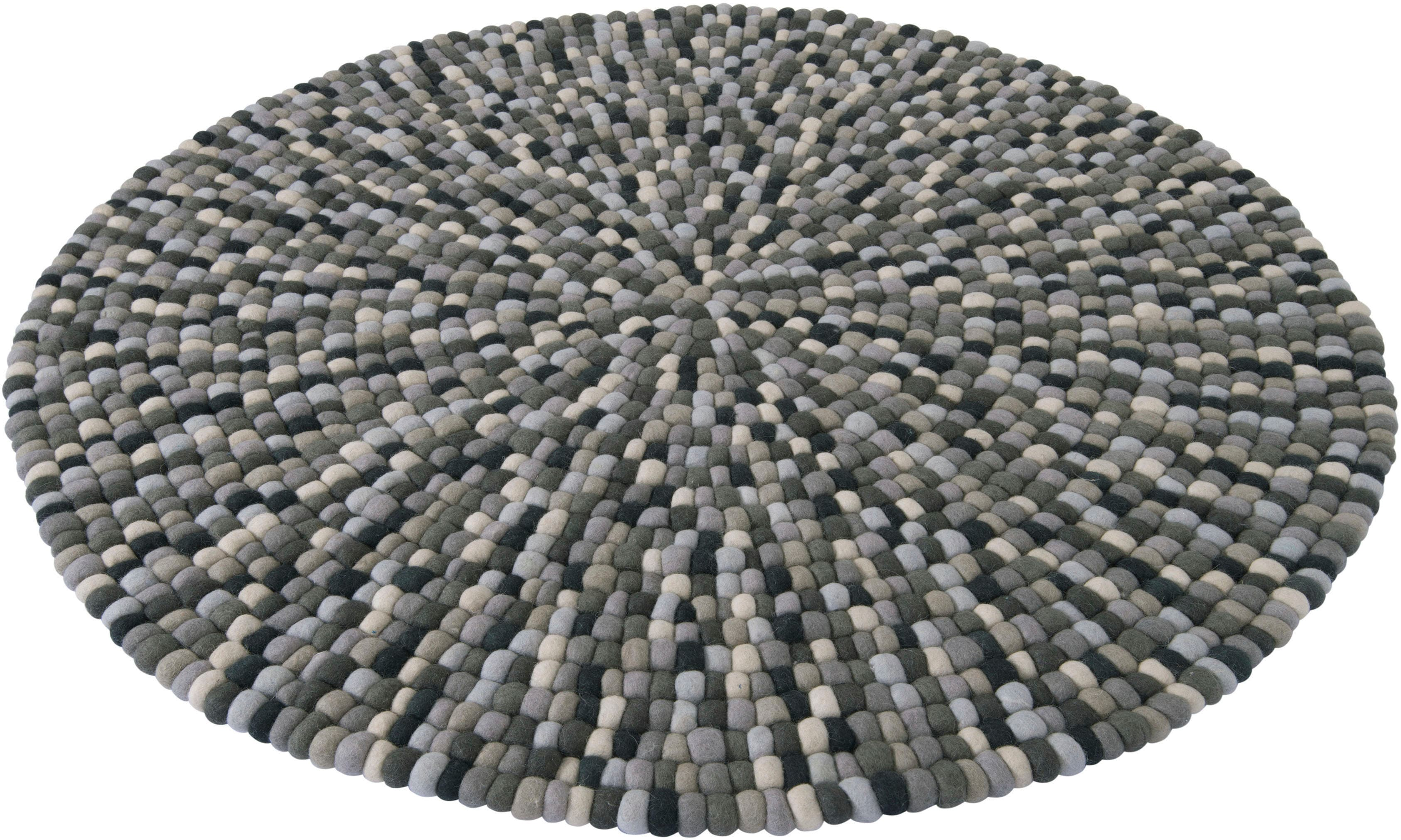 andas Wollteppich Tjegge, rund, 23 mm Höhe günstig online kaufen