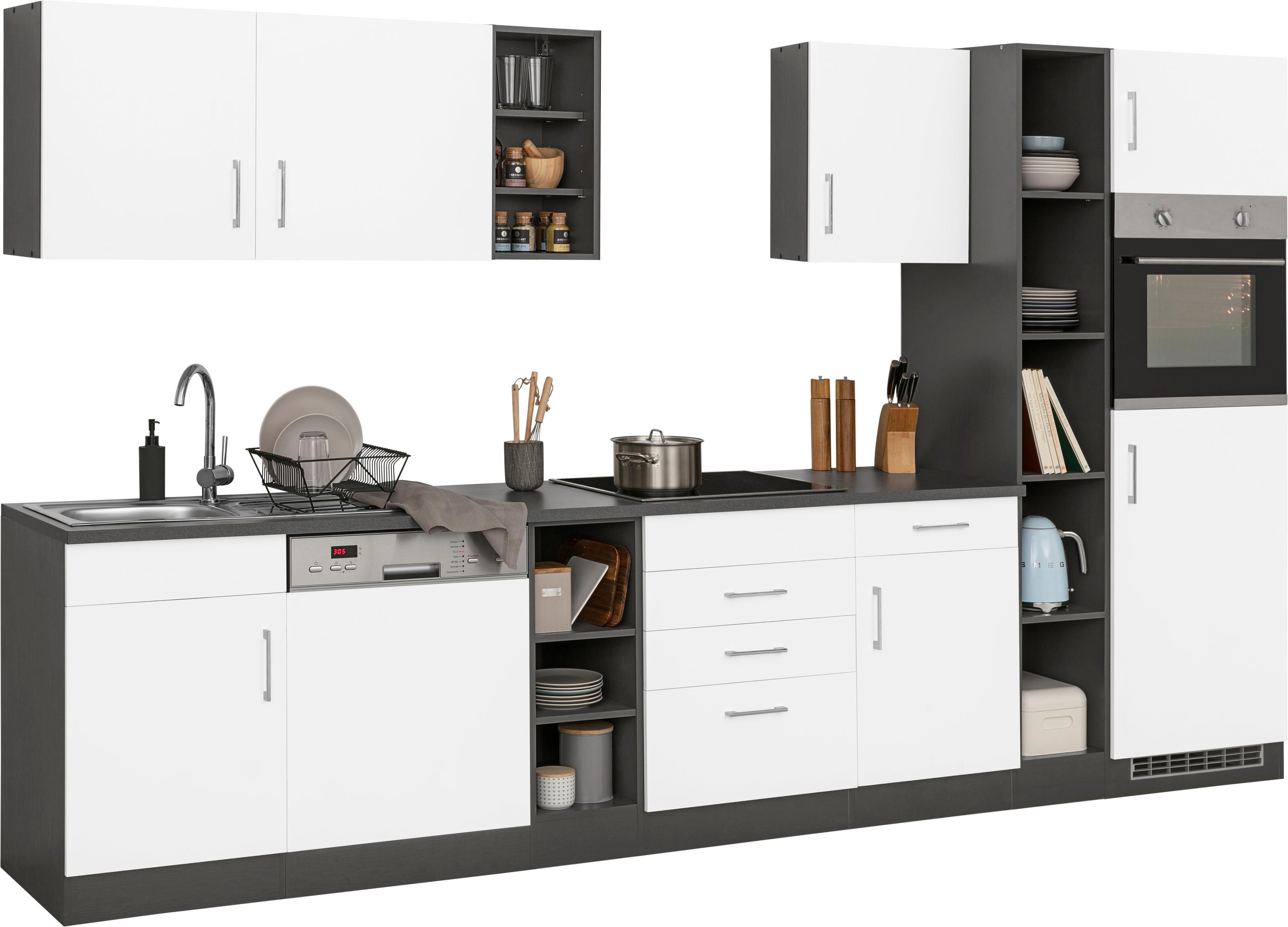 HELD MÖBEL Küchenzeile Paris, ohne E-Geräte, Breite 340 cm günstig online kaufen