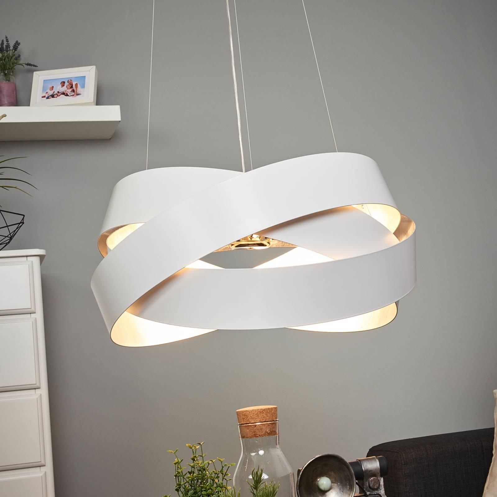 Pendelleuchte Pura weiß/silber, 60cm, 8x G9 günstig online kaufen