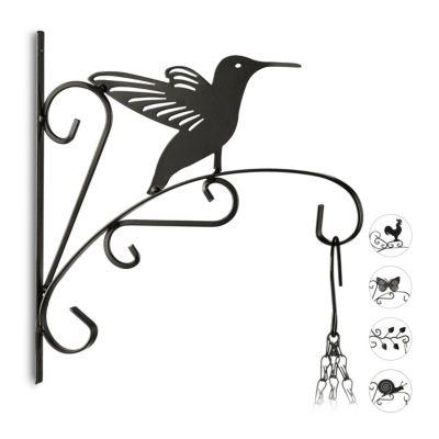 relaxdays 1 x Blumenhaken Wand, Ampelhalter Vogel, Blumenhalter Blumenampel günstig online kaufen
