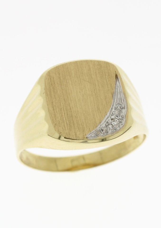 Firetti Siegelring »matt in Bicolor-Optik«, mit Diamant günstig online kaufen