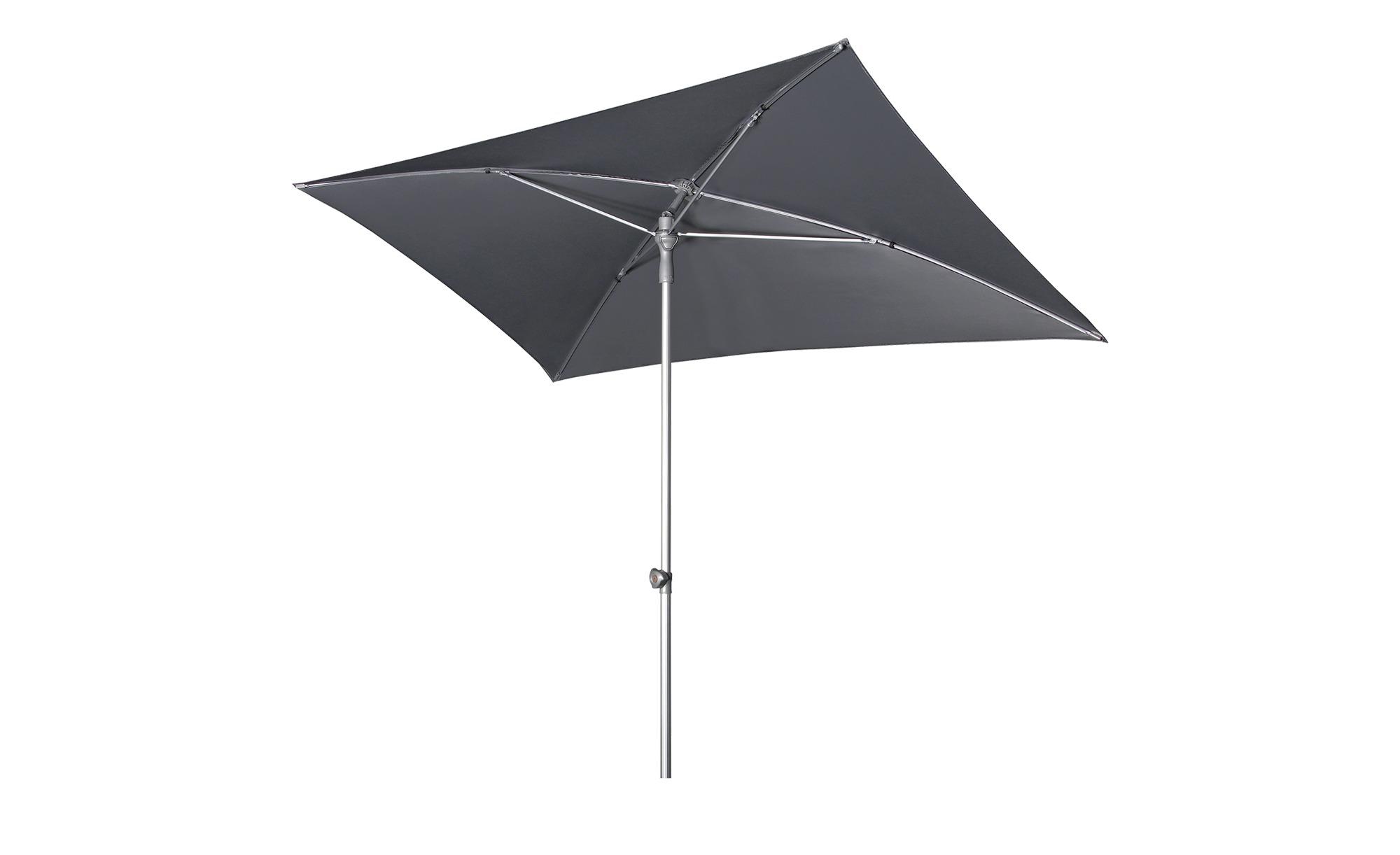 Sonnenschirm - grau - Garten > Sonnenschutz > Sonnenschirme - Möbel Kraft günstig online kaufen
