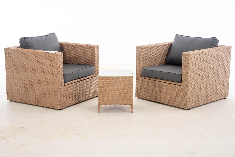 #Tibera + V: 2x Sessel Tibera + Tisch Vilato-sand-eisengrau günstig online kaufen