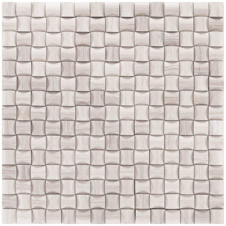 Mosaik Marmor Basket 3D Grau poliert 30 cm x 30 cm günstig online kaufen