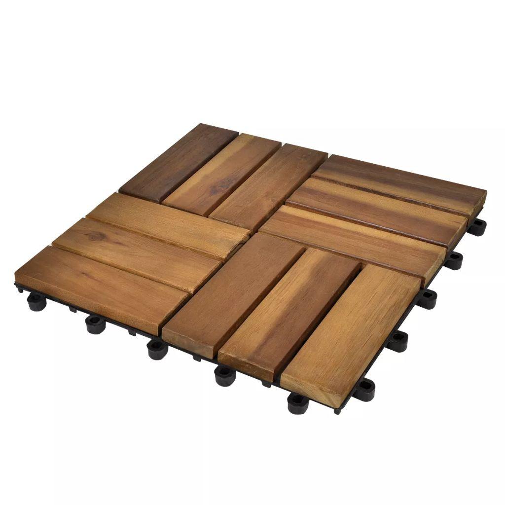 Terrassenfliesen 20er Set Akazie 30 X 30 Cm günstig online kaufen