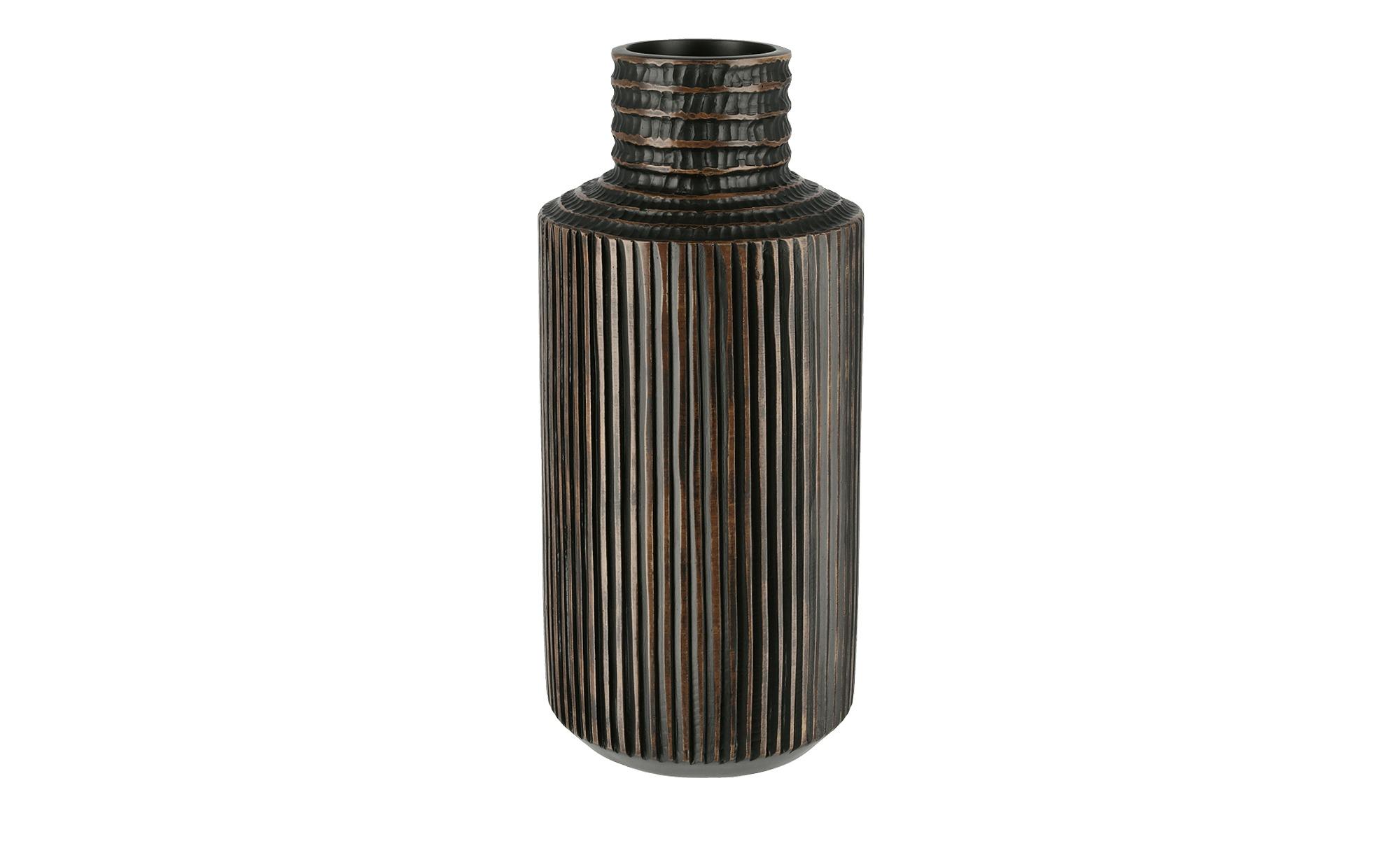 Vase ¦ braun ¦ Polyresin (Kunstharz)Ø: 16.5 Dekoration > Vasen - Höffner günstig online kaufen