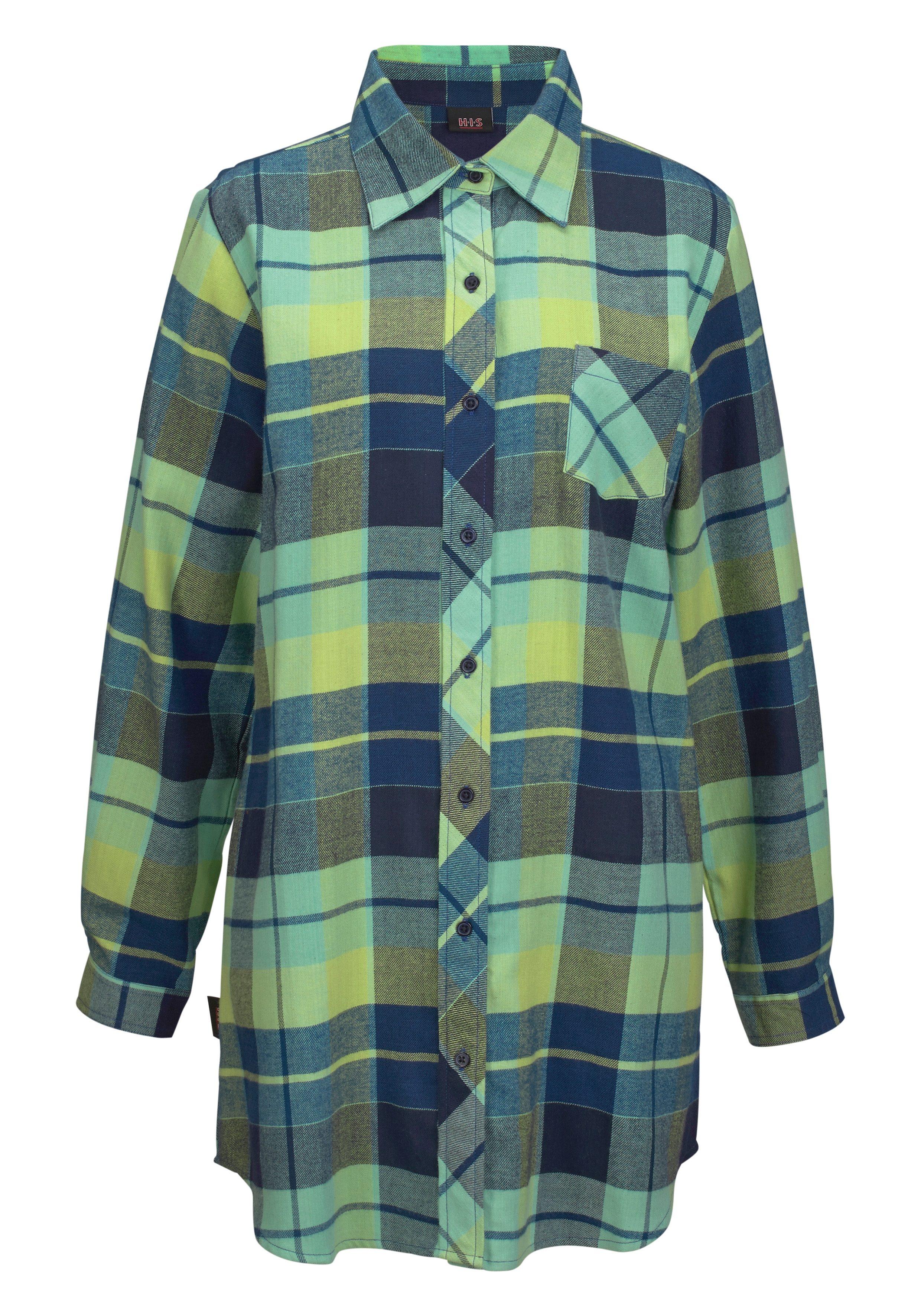 H.I.S Nachthemd mit Hemdkragen und Knopfleiste günstig online kaufen