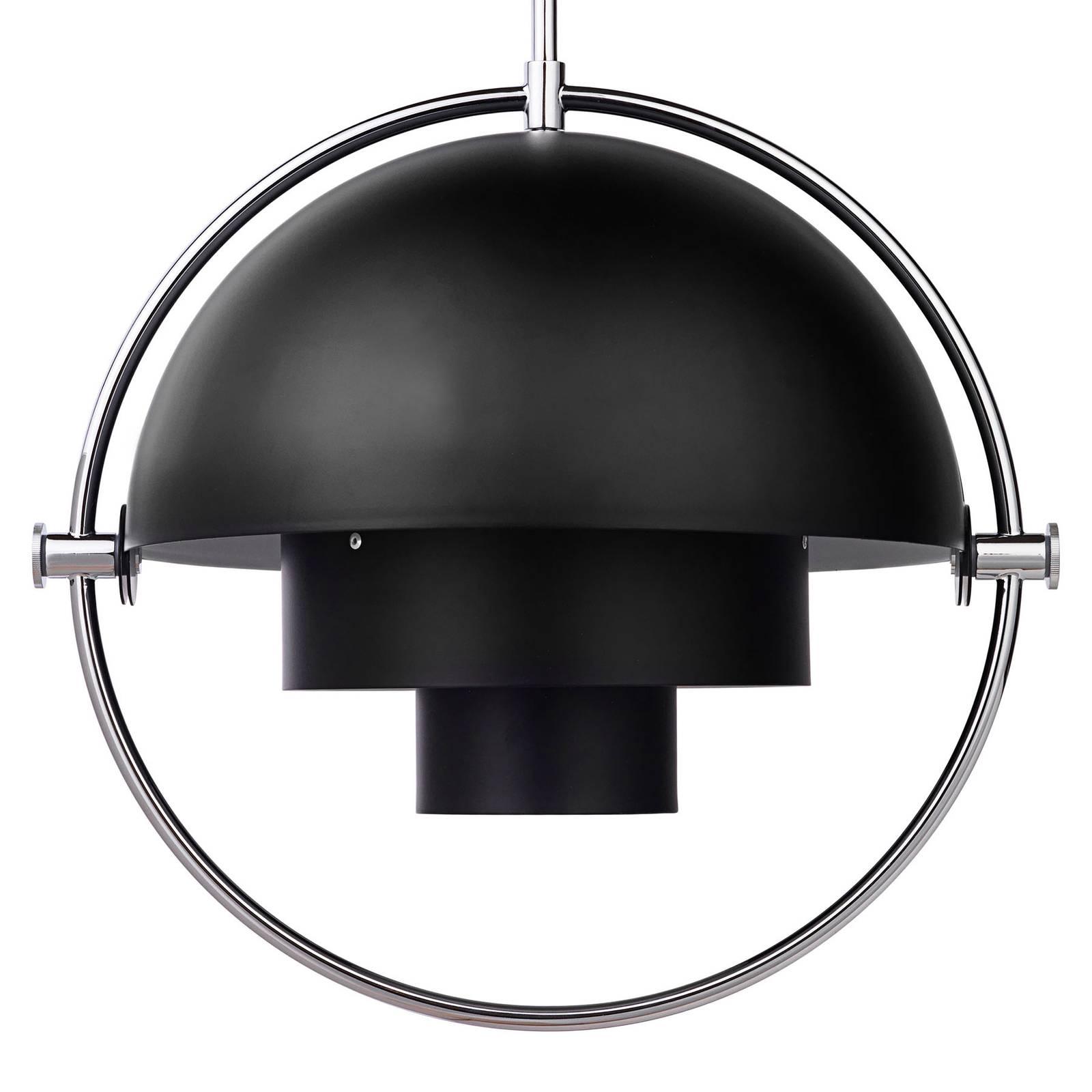 Gubi - Multi-Lite Pendelleuchte Ø36cm Gestell Chrom - schwarz/seidenmatt/Ba günstig online kaufen