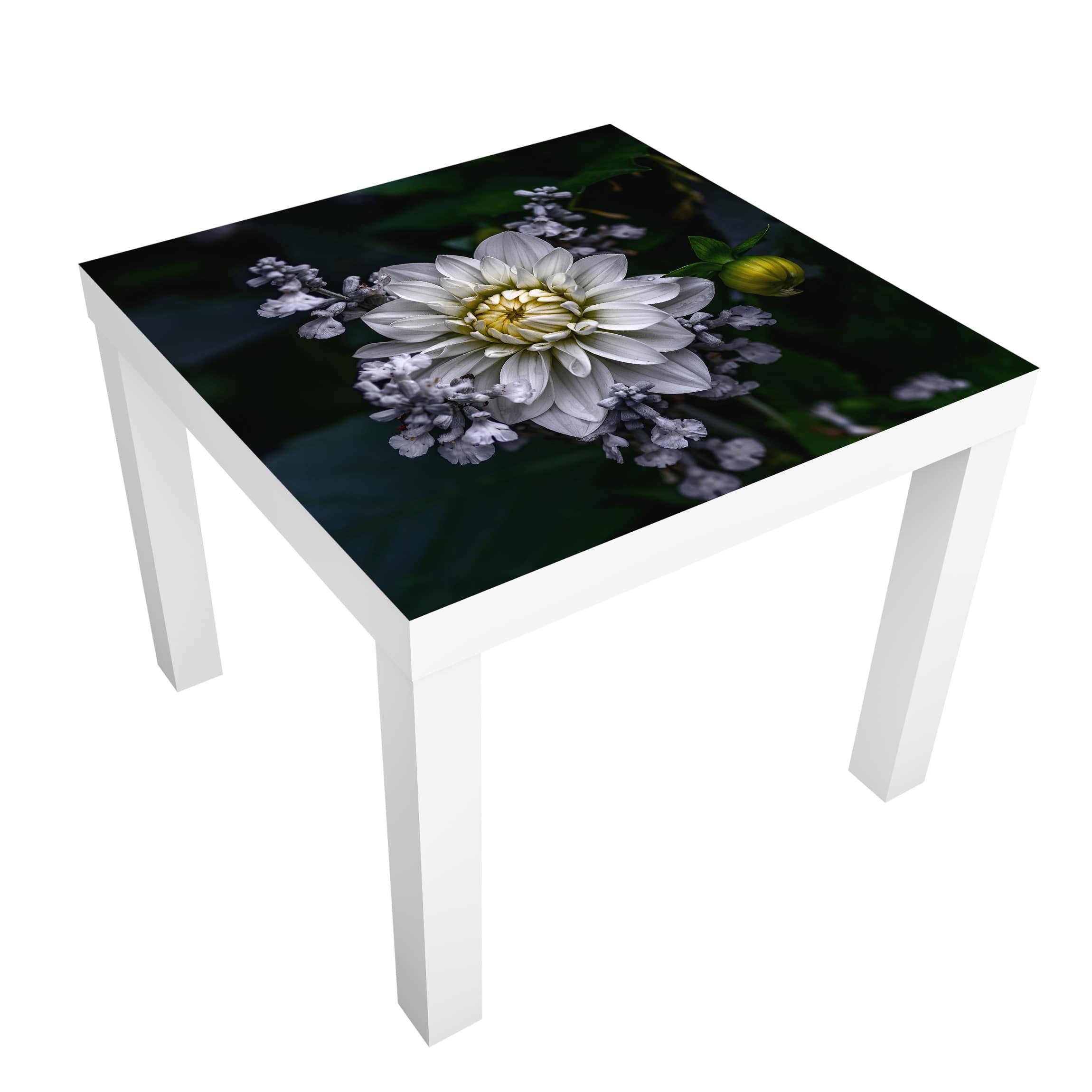 Beistelltisch Blumen Weiße Dahlie günstig online kaufen