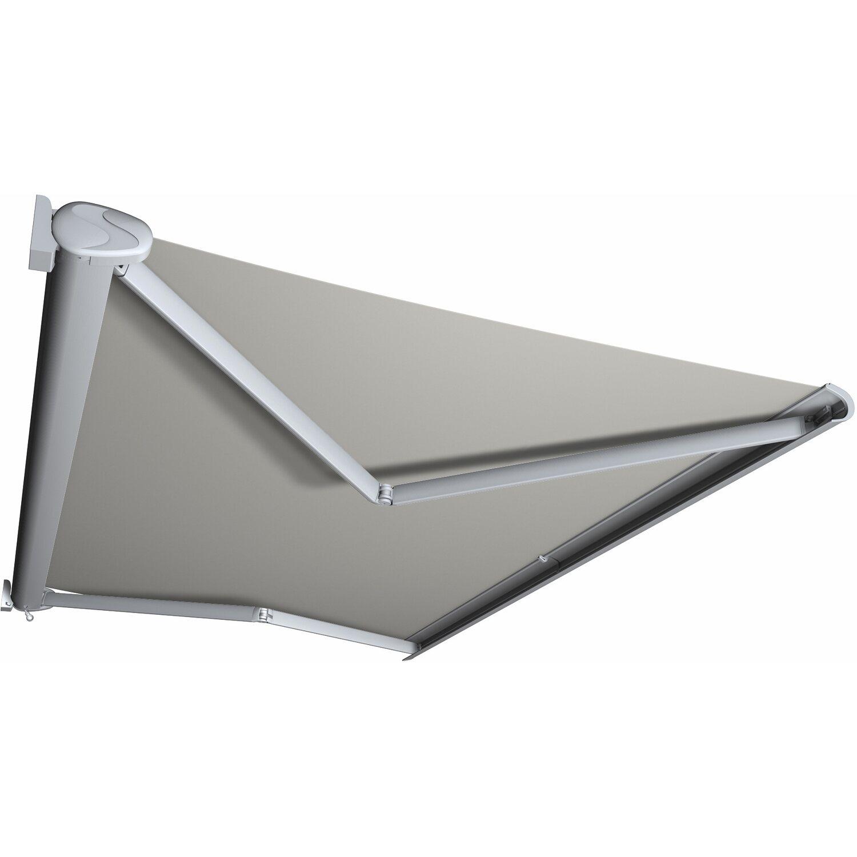 Kassettenmarkise Perform 350 x 250 cm Gestell Silber Tuch Hellgrau günstig online kaufen