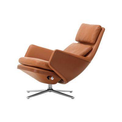 Grand Relax Drehsessel / dreh- & & lehnbar - Leder - Vitra - Braun günstig online kaufen