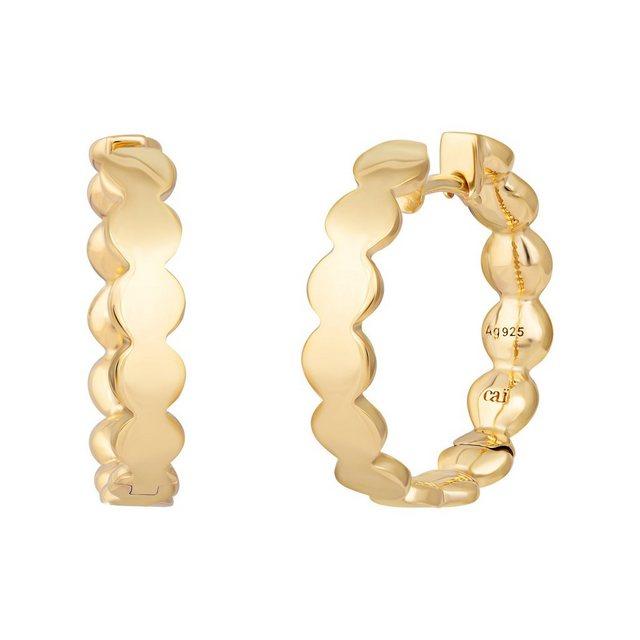 CAÏ Klappcreolen »925 Silber vergoldet Boho«, Glänzend günstig online kaufen