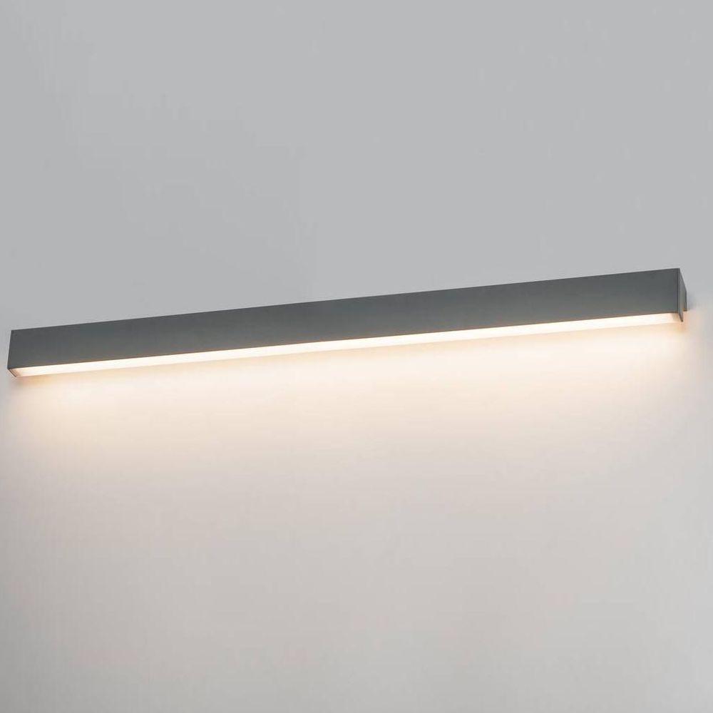 LED Wand- und Deckenleuchte L-Line in Dunkelgrau 18,5W 1650lm IP44 günstig online kaufen