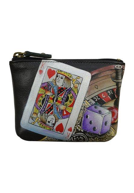 ANUSCHKA Mini Geldbörse »High Roller aus handbemaltem Leder« günstig online kaufen
