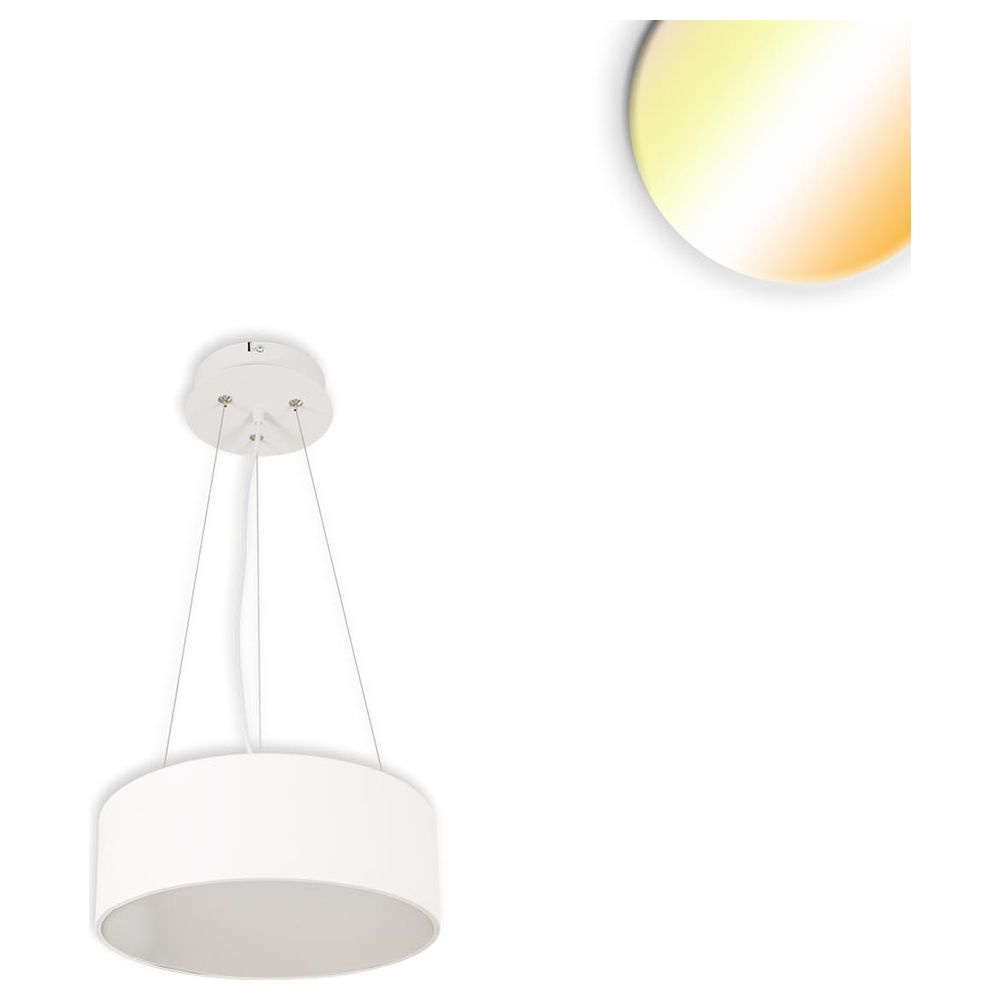 LED Hängeleuchte, DM 40cm, weiß, 28W, ColorSwitch 3000|3500|4000K, dimmbar günstig online kaufen