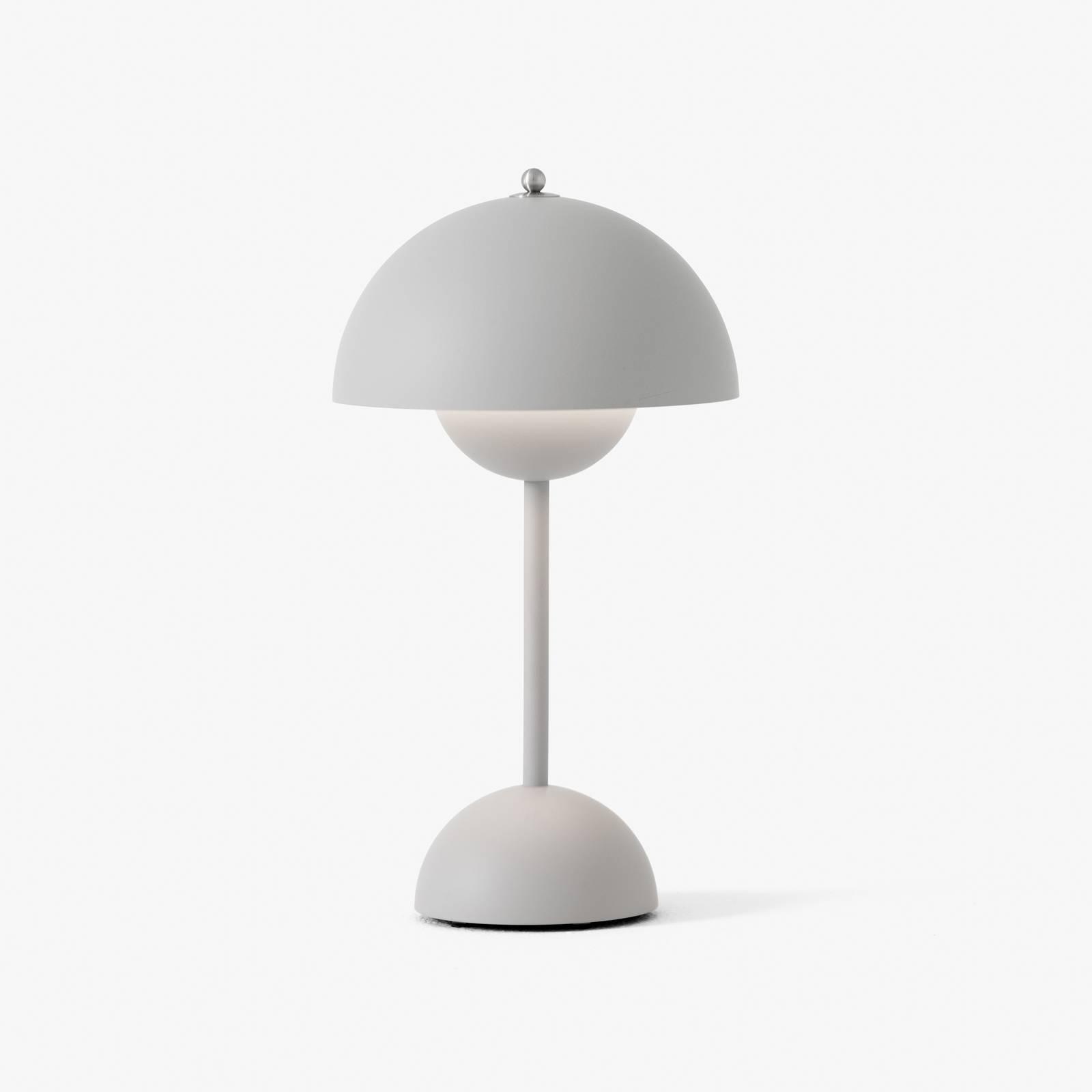 &Tradition Flowerpot VP9 Tischlampe hellgrau matt günstig online kaufen