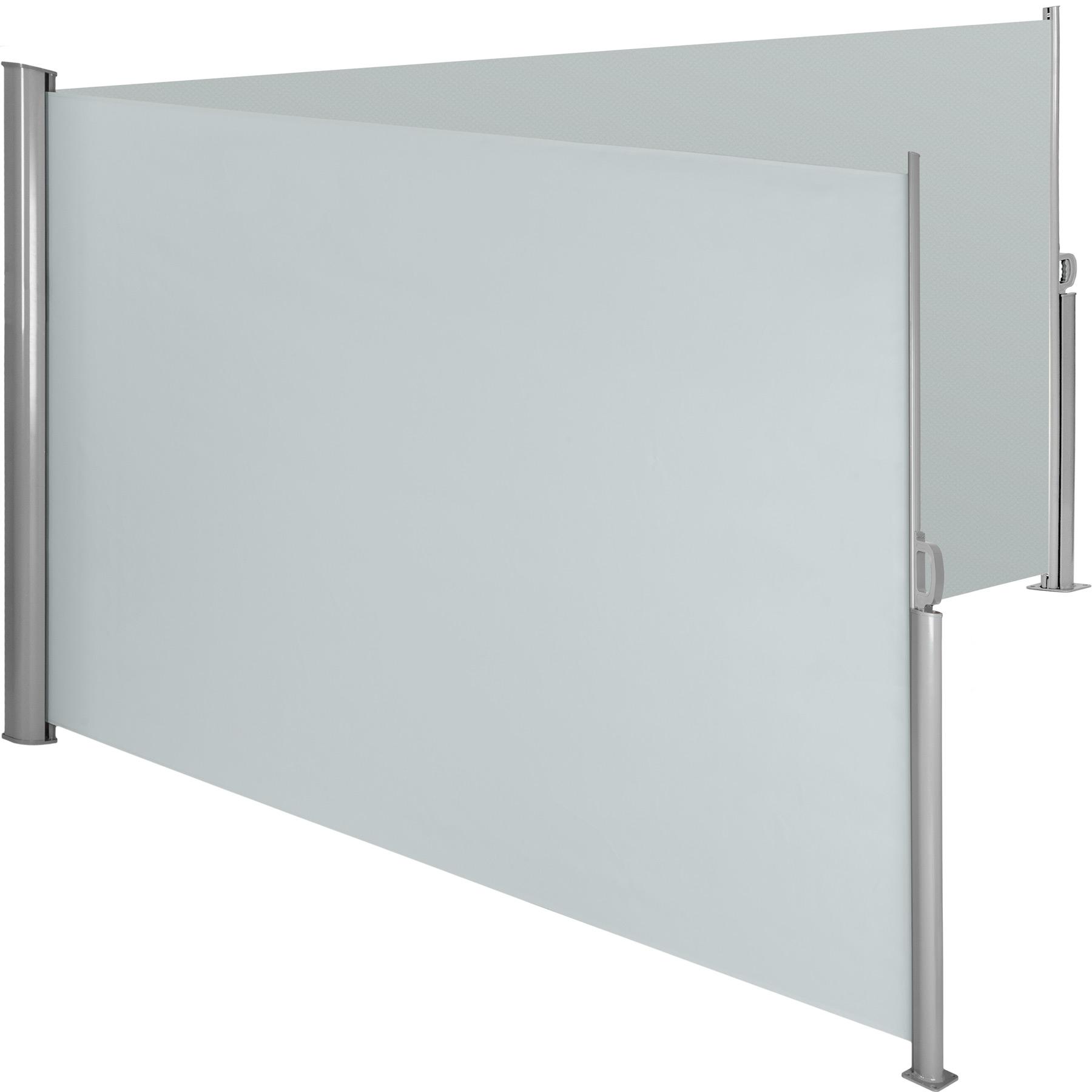 Aluminium Doppel Seitenmarkise - grau, 180 x 600 cm günstig online kaufen