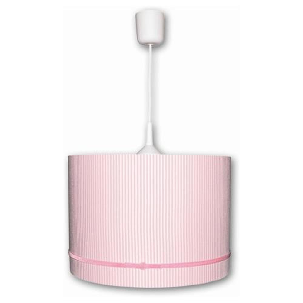 Waldi Leuchten Schirmlampen Stripes Mit Samtband Uno Rosa-weiß, Rosa, weiß, günstig online kaufen