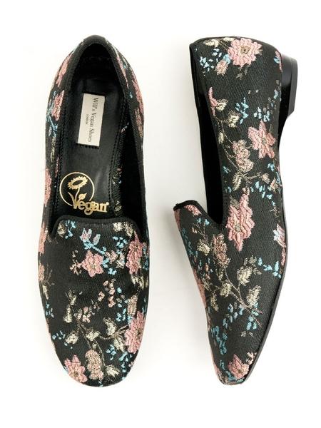 Loafer Jacquard Blumenmuster Damen günstig online kaufen