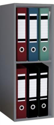 VCM Aktenregal Bücherregal Büroregal Ordnerregal Holz Regal Offas 2fach gra günstig online kaufen