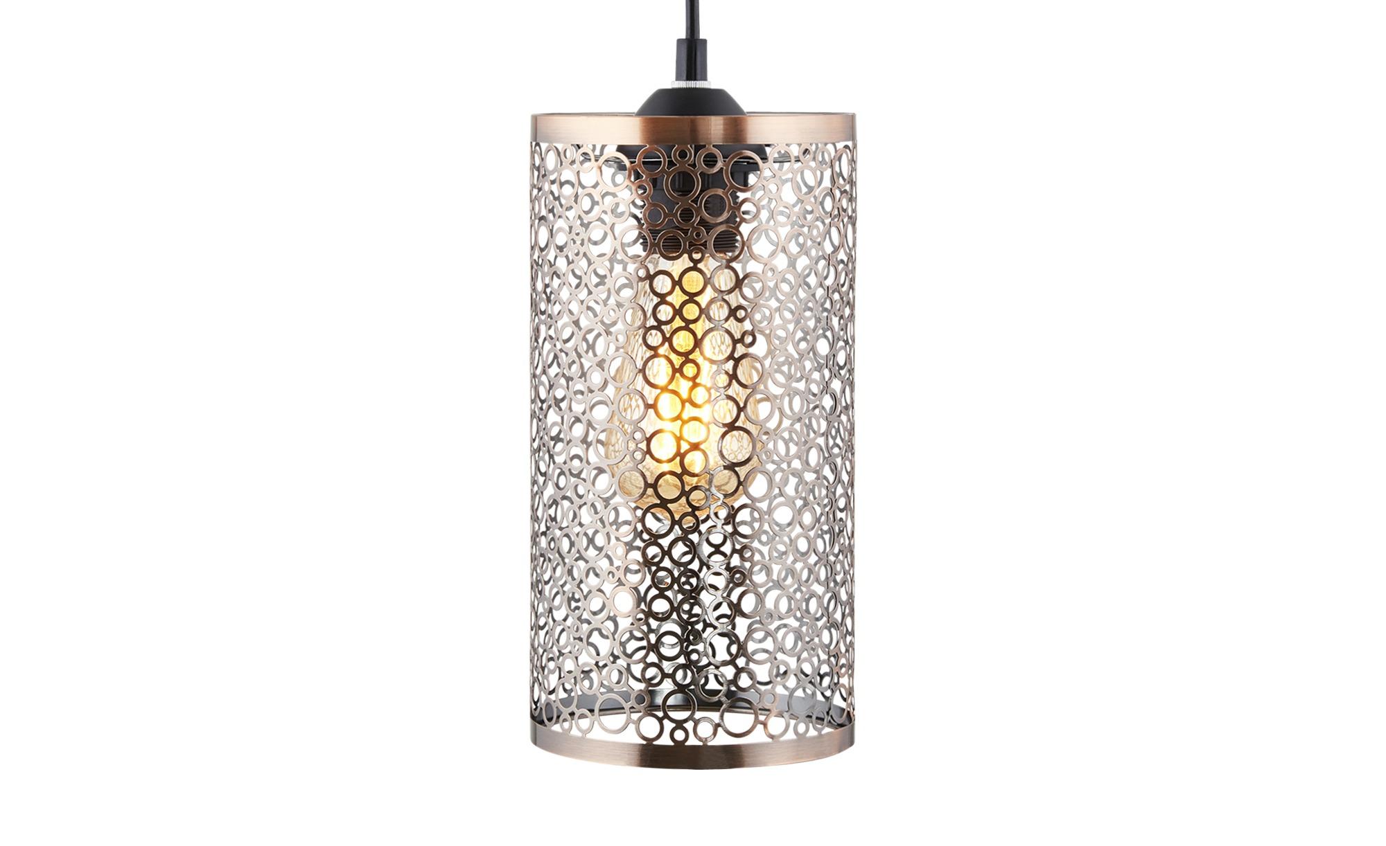 HOME STORY Pendelleuchte, 1-flammig mit Ausstanzungen ¦ goldØ: 13 Lampen & günstig online kaufen