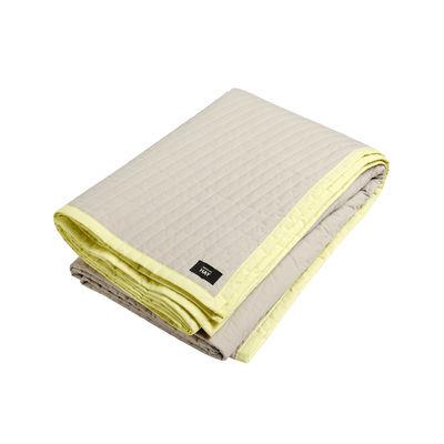Bias Plaid / Gesteppt - 245 x 195 cm - Hay - Weiß/Gelb günstig online kaufen
