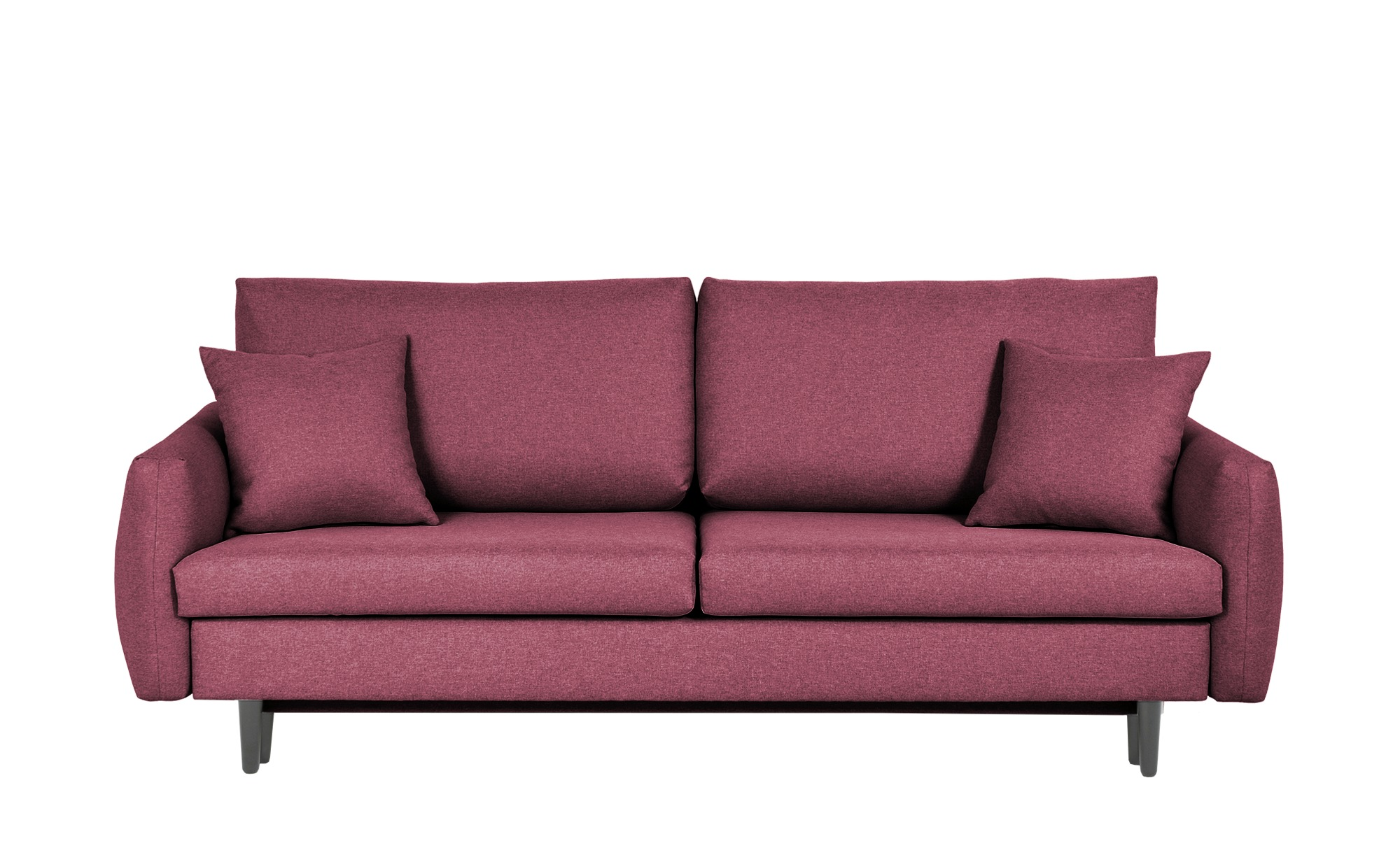 Schlafsofa  Noami ¦ rot Polstermöbel > Sofas > 3-Sitzer - Höffner günstig online kaufen