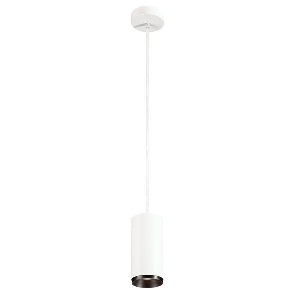LED Pendelleuchte Numinos in Weiß und Schwarz 20,1W 2060lm 4000K 60° günstig online kaufen