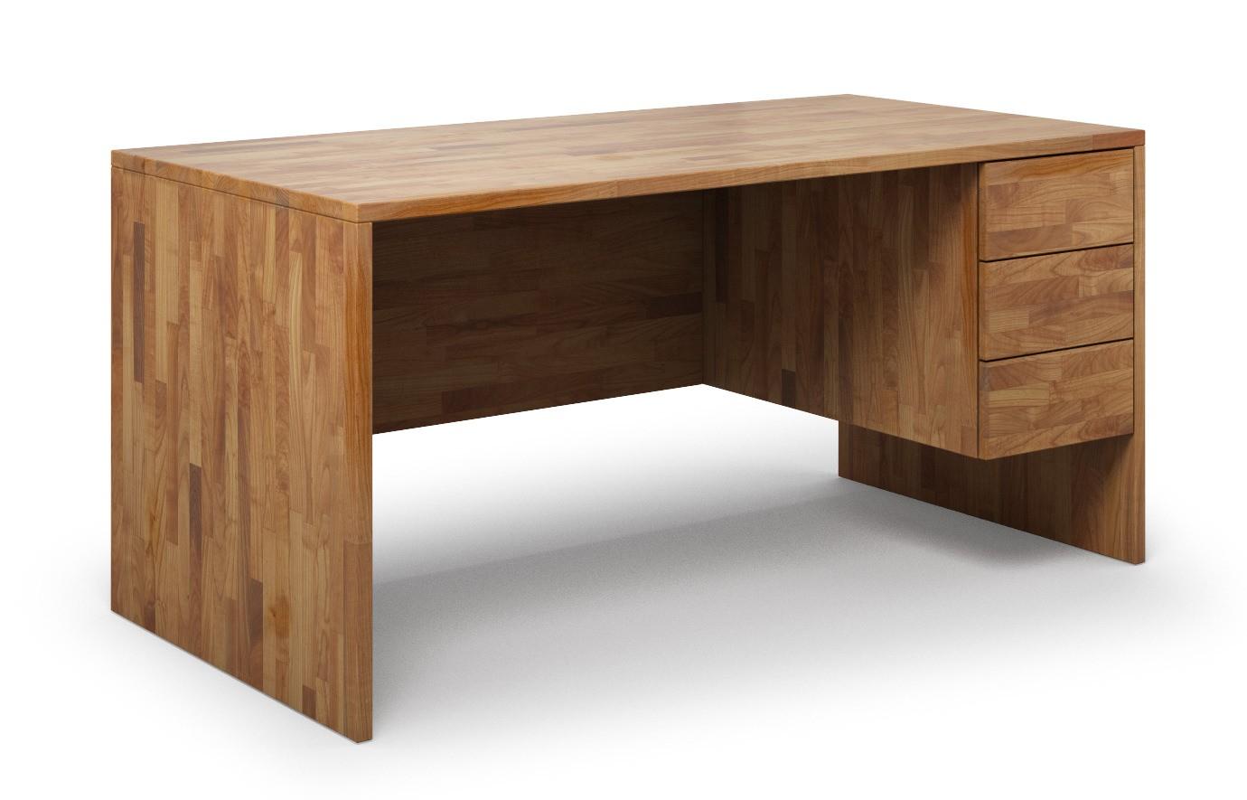 Schreibtisch Kasan aus Kirschbaum günstig online kaufen