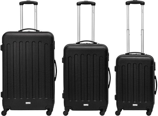 Packenger Trolleyset »Travelstar, Schwarz«, 4 Rollen, (3 tlg) günstig online kaufen