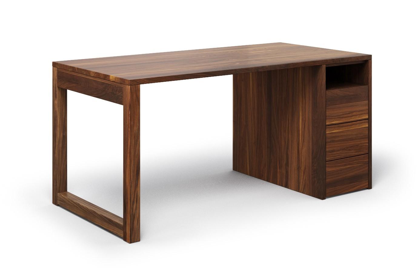 Schreibtisch Cantus aus Nussbaum günstig online kaufen