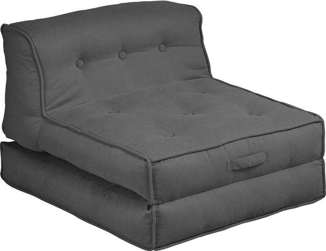 my home Sessel »Caspar«, Loungesessel in 2 Größen, mit Schlaffunktion und P günstig online kaufen