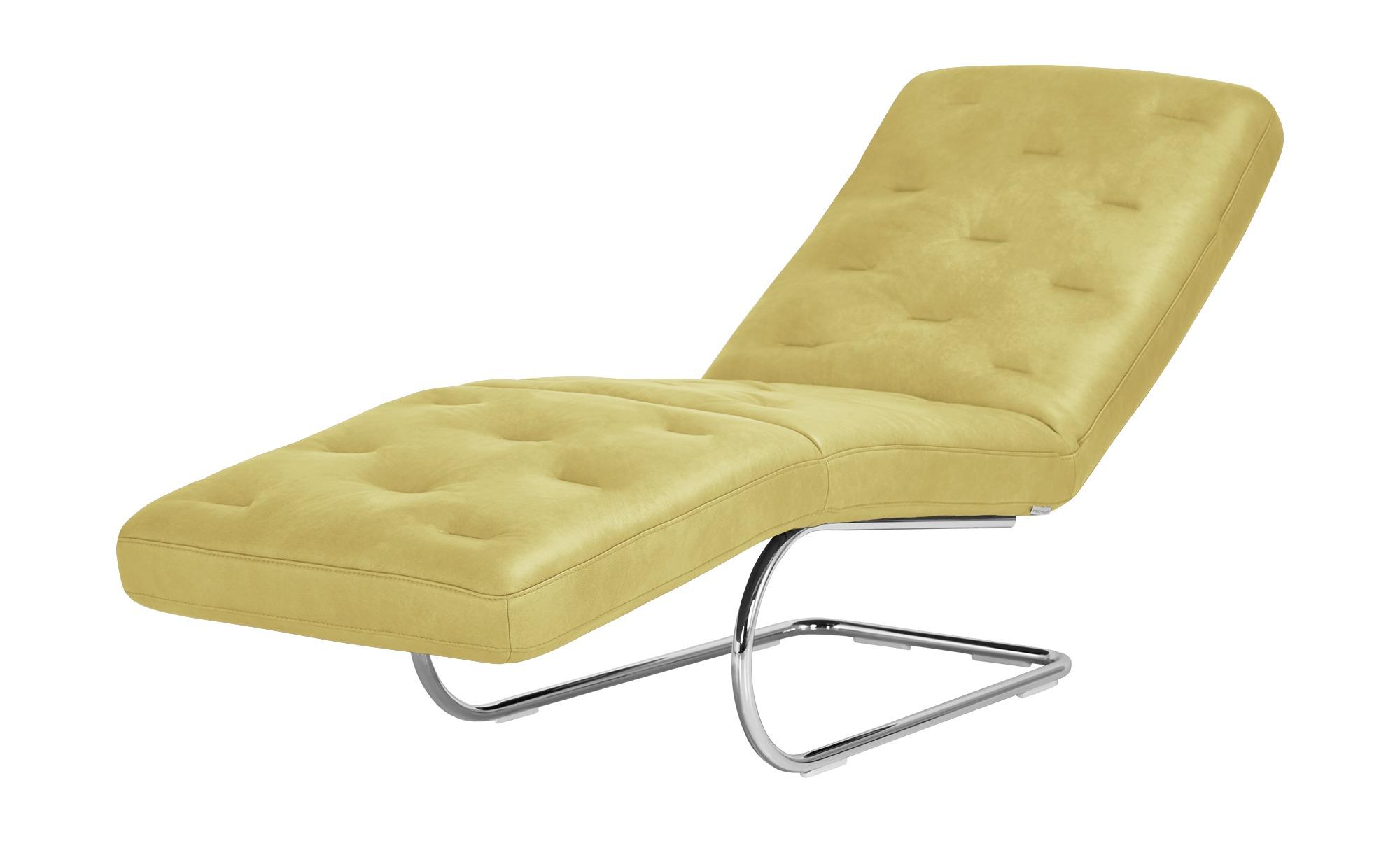 W.SCHILLIG Relaxliege Leder  Sweet Dreams - gelb - 65 cm - 91 cm - 200 cm - günstig online kaufen