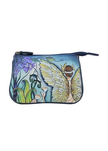 ANUSCHKA Mini Geldbörse »Enchanted Garden (handbemaltes Leder)«, mit Reißve günstig online kaufen