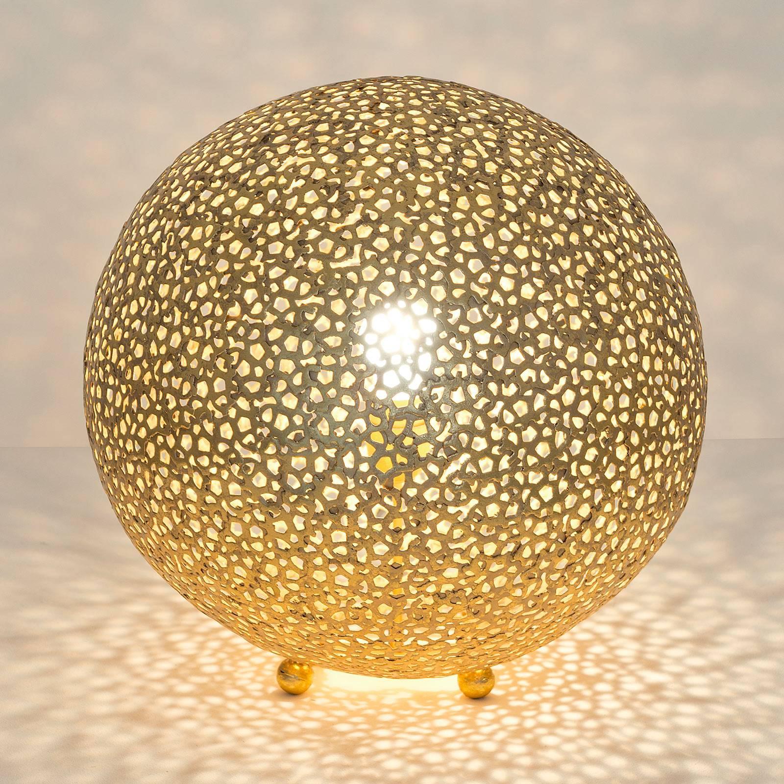 Tischleuchte Lily Grande, Ø 43 cm, gold günstig online kaufen