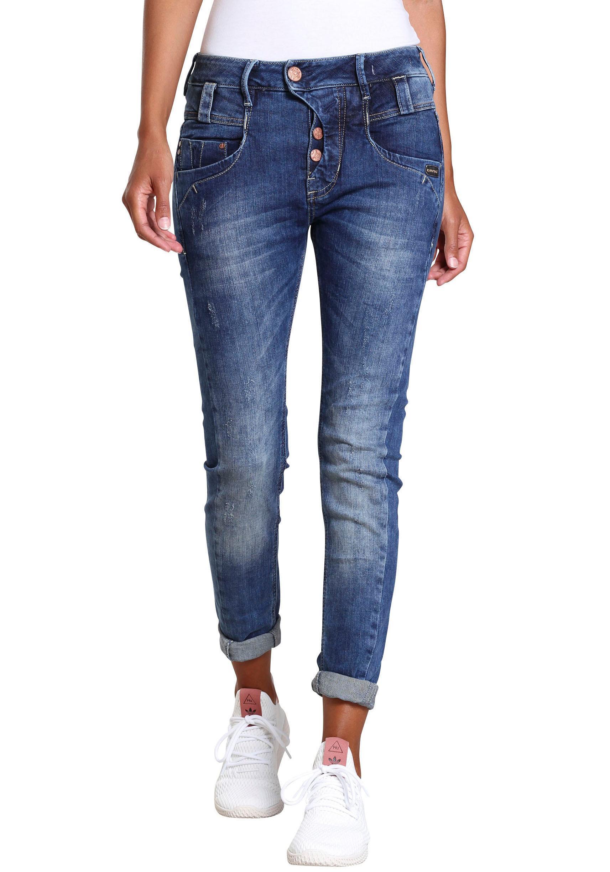 GANG Slim-fit-Jeans »MARGE« mit besonderem 4-Knopf-Verschluss günstig online kaufen