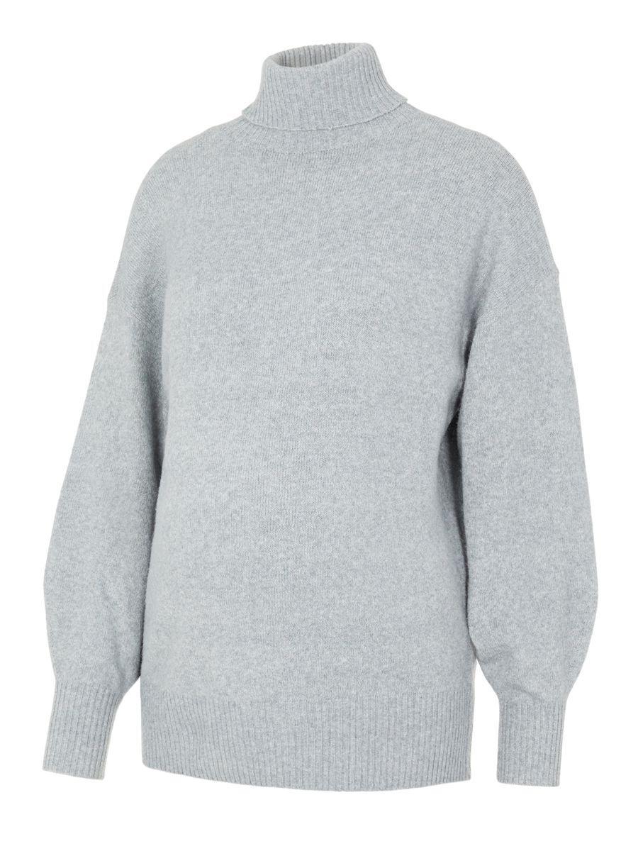 MAMA.LICIOUS Pcmcava Umstandspullover Damen Grau günstig online kaufen