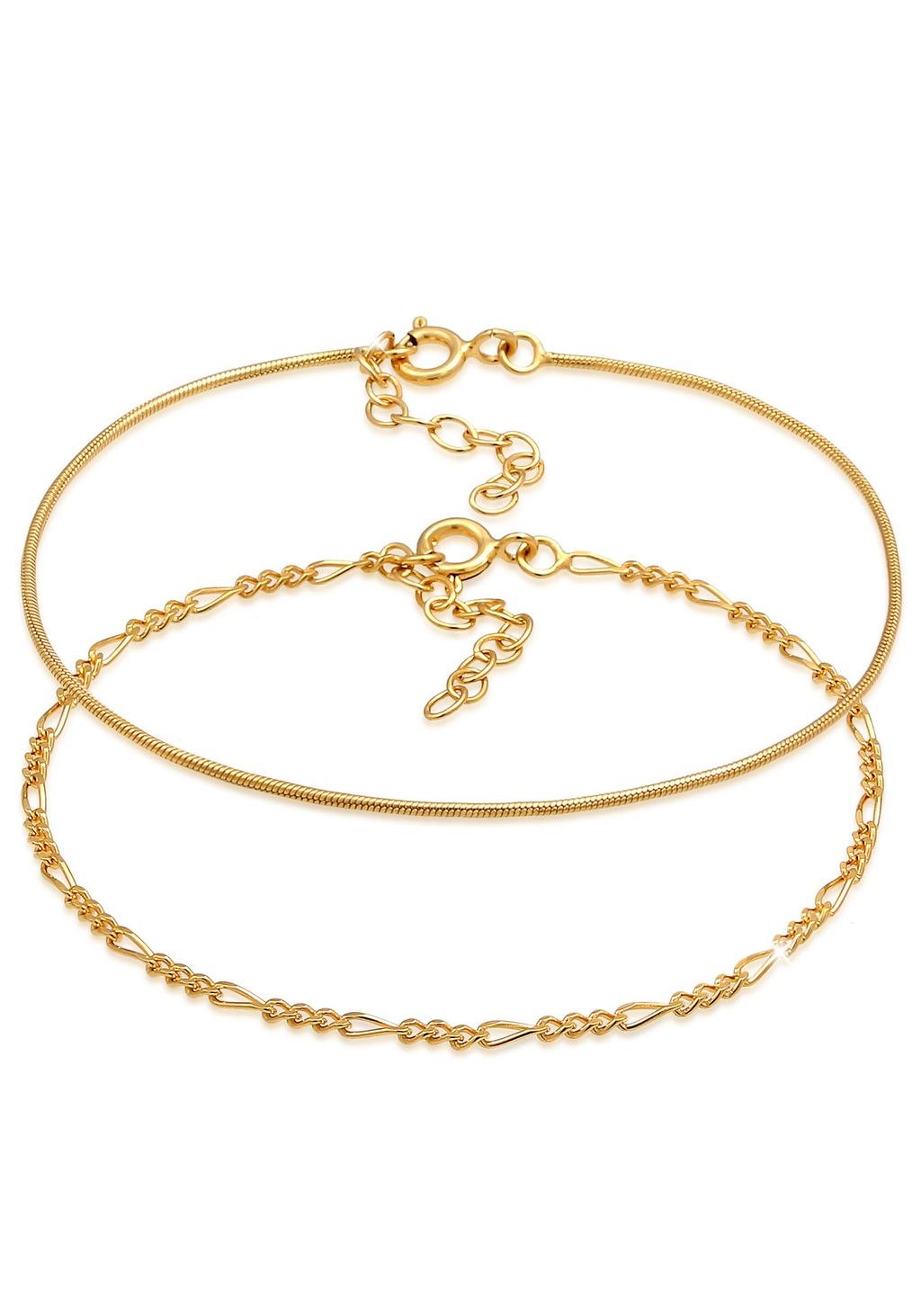 Elli Silberarmband Set Armkettchen 2er Set Figaro Rund, 0212840619, 0212830 günstig online kaufen