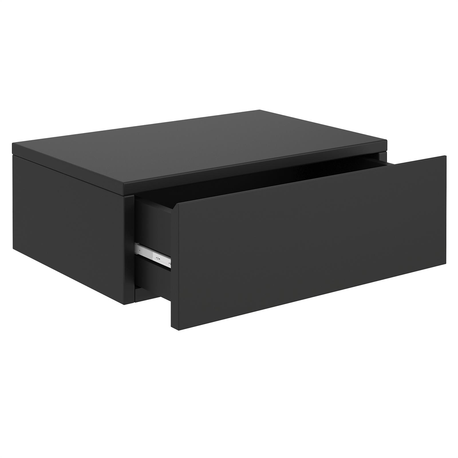 Hängende Nachtkommode ANNE mit 1 Schublade, schwarz günstig online kaufen