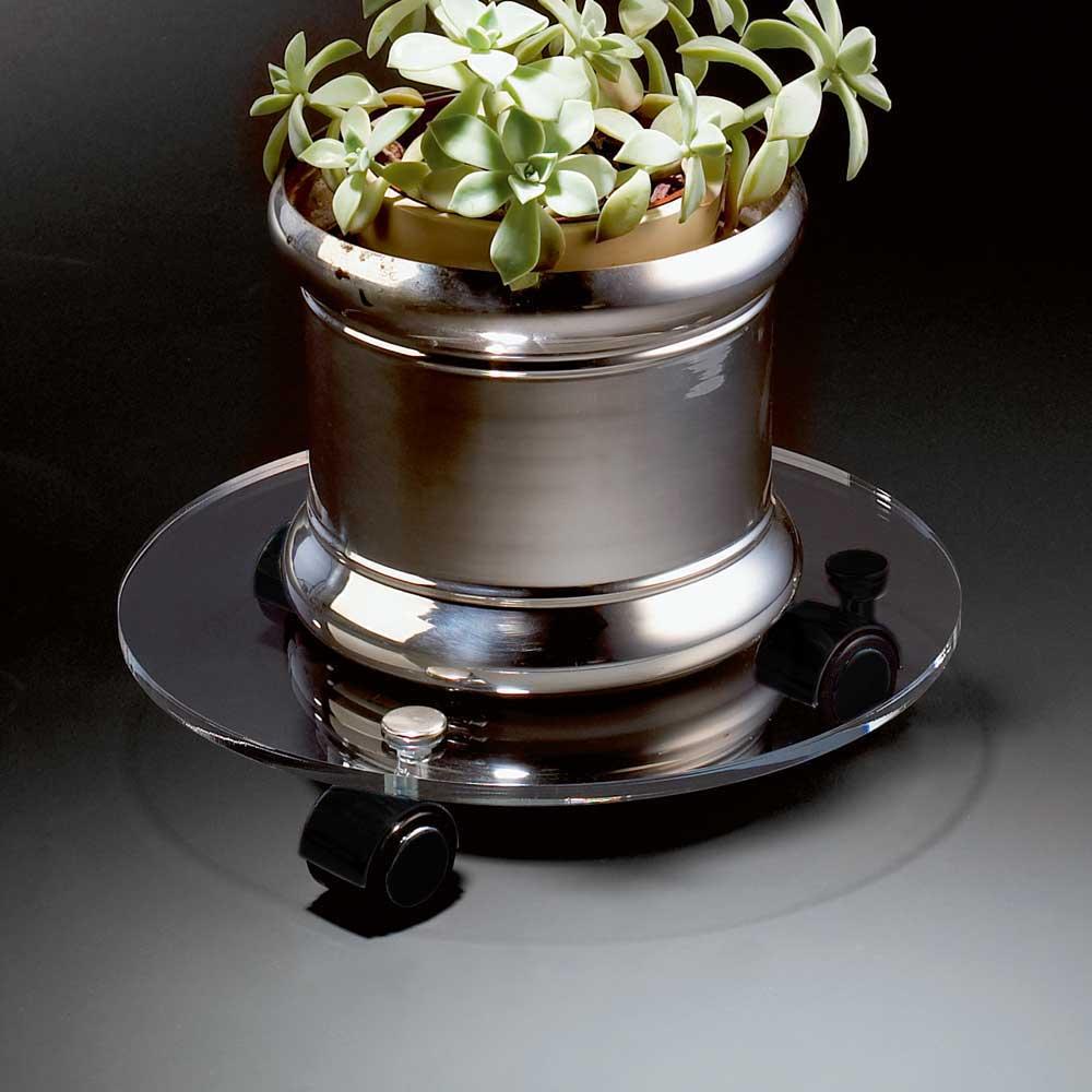 Blumenroller aus Acrylglas klar Rund günstig online kaufen