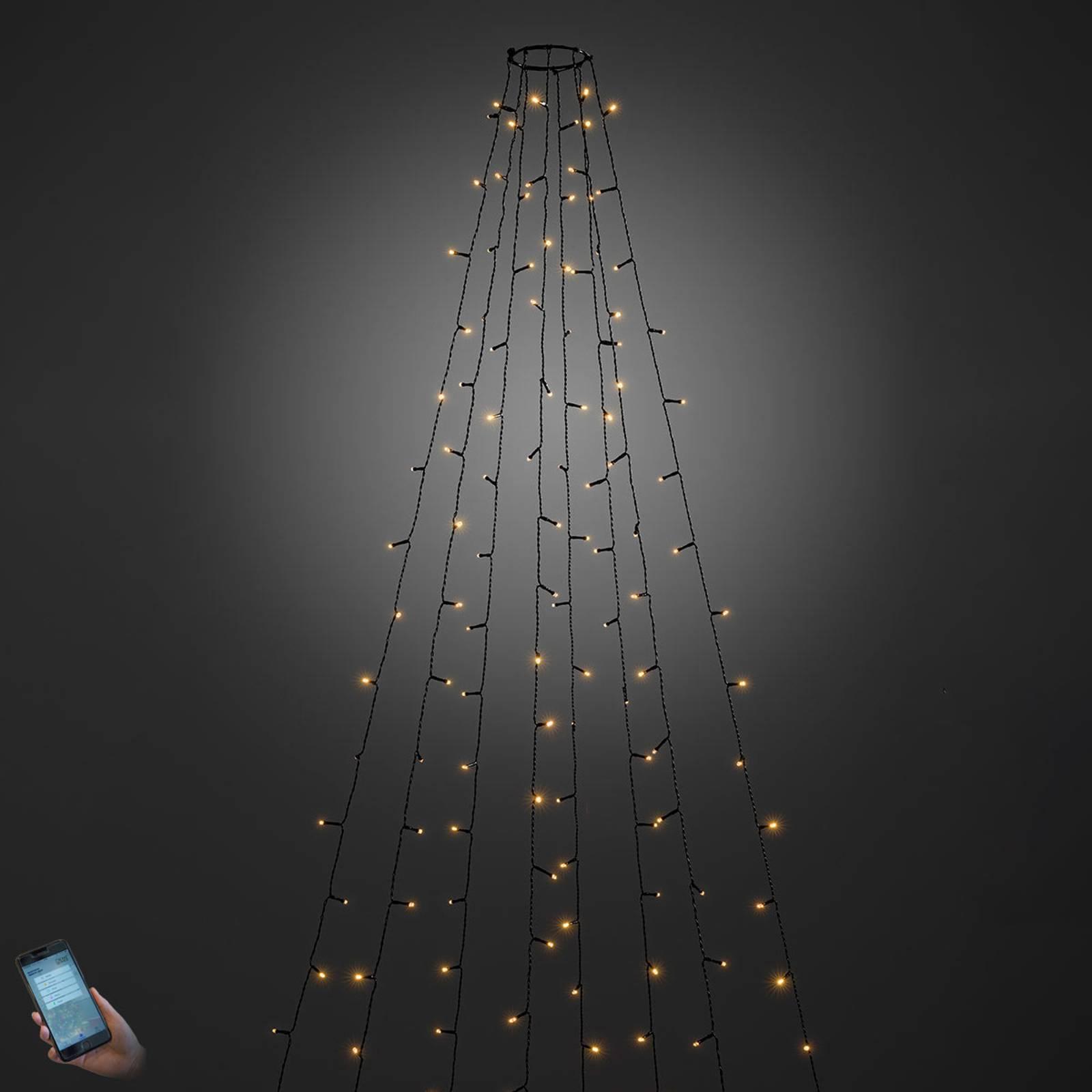Per App bedienbarer LED-Baummantel außen 240-flg. günstig online kaufen