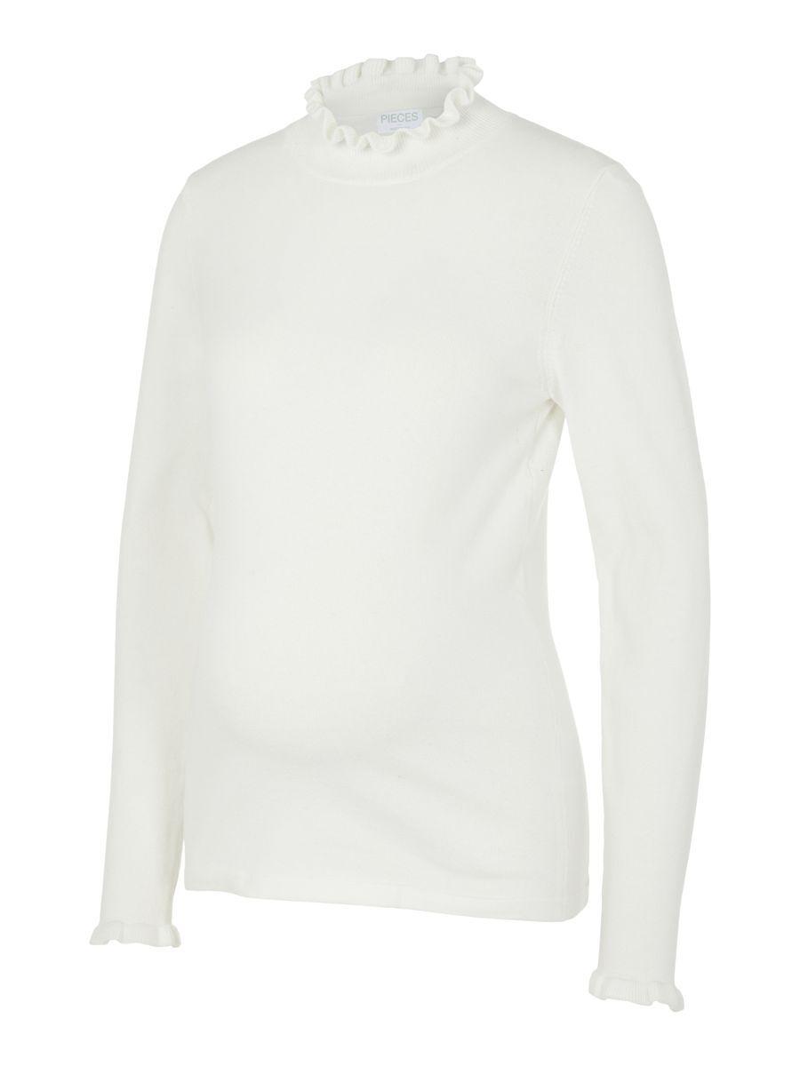 MAMA.LICIOUS Pcmelira Umstandspullover Damen White günstig online kaufen