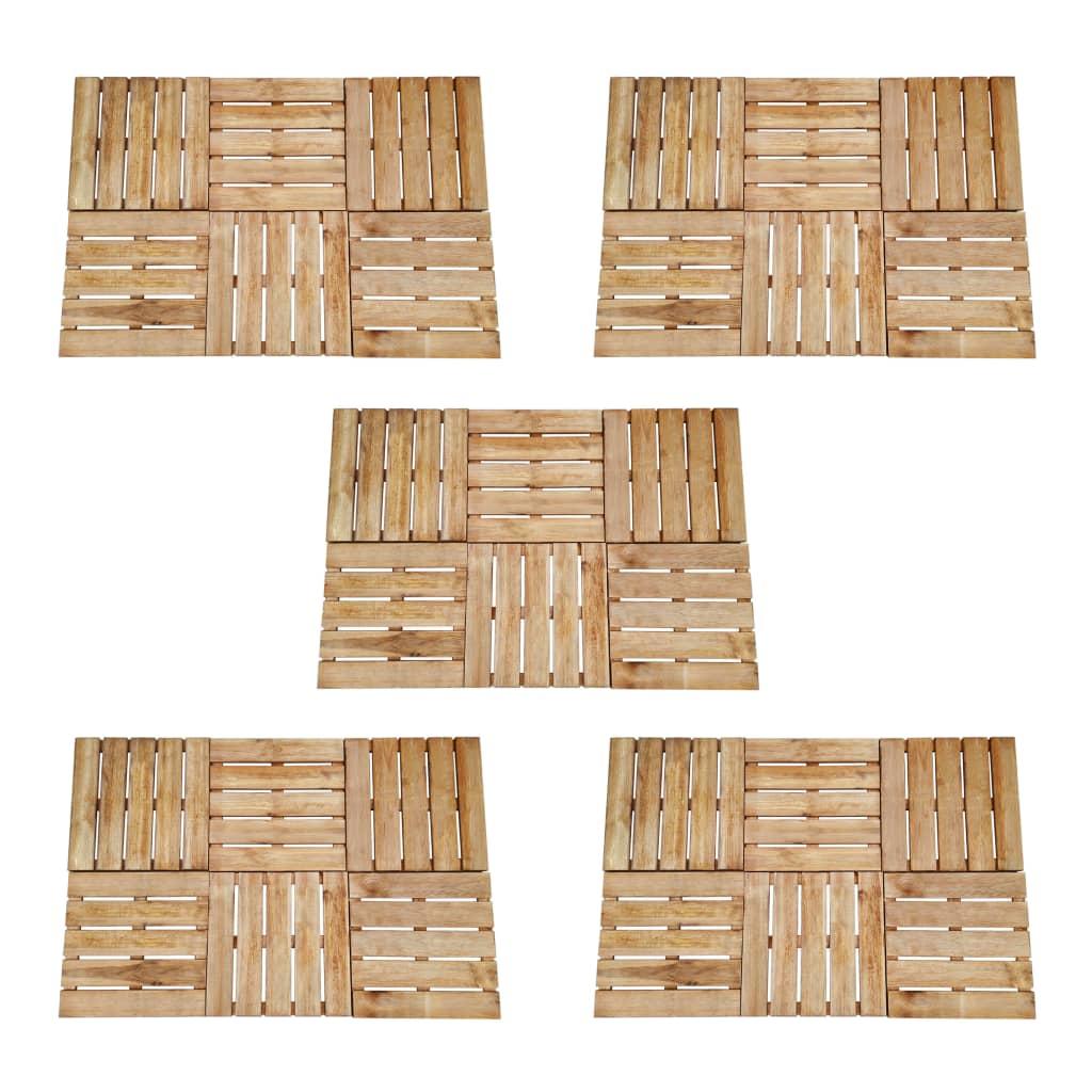Terrassenfliesen 30 Stk. 50×50 Cm Braun Holz günstig online kaufen