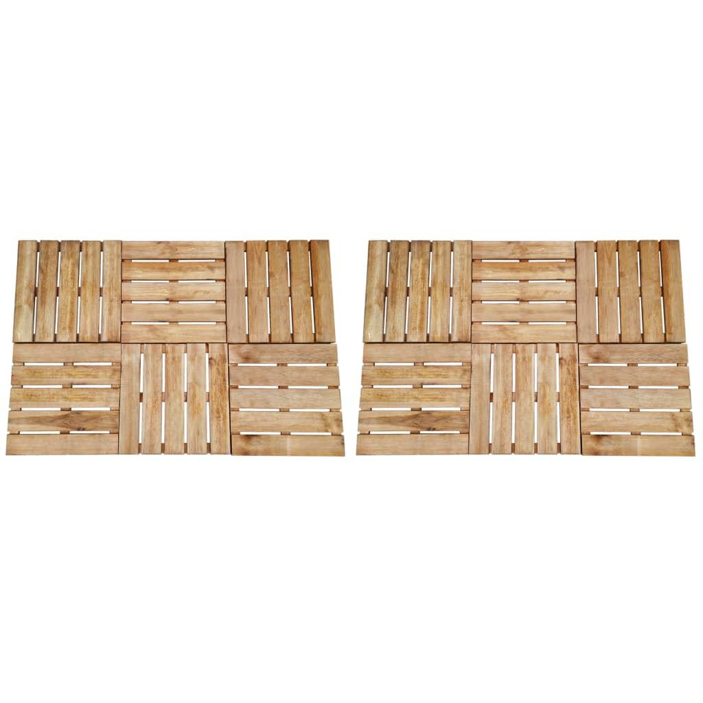 Terrassenfliesen 12 Stk. 50×50 Cm Braun Holz günstig online kaufen