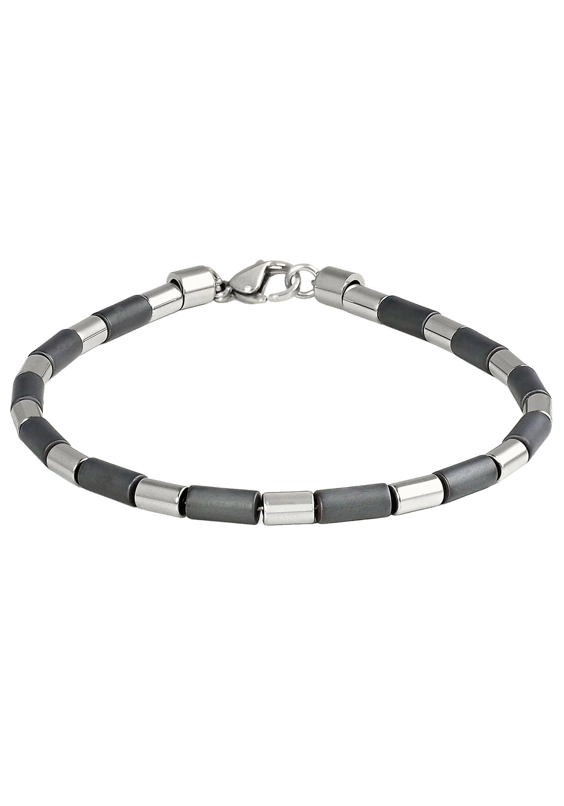 Firetti Armband Edelstahl Draht, Walzen, matt, glänzend, mit Hämatit, Made günstig online kaufen